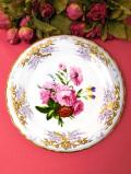 <COALPORT:限定品>「Roses and Violas」♪たっぷりとした金彩が美しいお花たちの絵皿