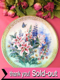 <W S George:限定品>たっぷりとした金彩♪「Lily Concerto」満開のユリが美しい光の絵皿「専用パンフレット&証明書付」