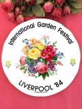 <DUCHESS>「International Garden Festival」♪たくさんの華やかなお花たちの美しくて大きな絵皿「スタンド付」