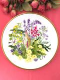 <Spink:限定品>「WILDFLOWERS:WOODLND&COPSE」♪たっぷりとした金彩と華やかなワイルドフラワーのお花の大きな絵皿「スタンド付」