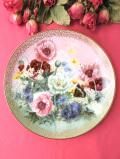 <WS.George:限定品>「Poppy Pastorale」♪たっぷりとした金彩のポピーたちが美しい絵皿「スタンド付」