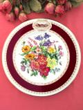 <RHS:英国王立園芸教会>1984年「Chelsea Flower Show Plate」♪イングリッシュガーデンのお花たちの絵皿