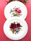 <HORNSEA>英国カントリーサイドに咲く華やかなバラのお花たちの大きな絵皿
