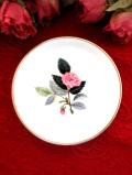 <廃盤レア♪ウェッジウッド>1959年:「HATHAWAY ROSE(ハサウェイ・ローズ)」のピンクのバラのスモールプレート「スタンド付」