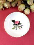 <廃盤レア♪ウェッジウッド>1959年:「HATHAWAY ROSE(ハサウェイ・ローズ)」のピンクのバラのまあるい形のスモールプレート