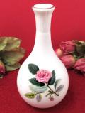 <廃盤レア♪ウェッジウッド>1959年:「HATHAWAY ROSE(ハサウェイ・ローズ)」のピンクのバラの一輪挿し