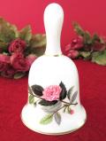 <廃盤レア♪ウェッジウッド>1959年:廃盤レア♪ピンクの薔薇ハサウェイローズ♪ボーンチャイナに咲いた優雅なバラのポーセリンベル
