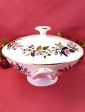 <ウェッジウッド>1956年:廃盤レア♪「HATHAWAY ROSE(ハサウェイ・ローズ)」のピンクのバラのとても大きなキャセロール