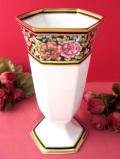 <WEDGWOOD:廃盤レア>豪華な金彩とお花たち♪「CLIO」の素晴らしく美しい大きなフラワーベース
