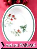 <WEDGWOOD>「RASPBERRY CANE」♪ラズベリーのボタニカルアートが美しい楕円形の深皿