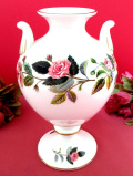 <廃盤レア♪ウェッジウッド>1959年:「HATHAWAY ROSE(ハサウェイ・ローズ)」のピンクのバラのとても大きなフラワーベース