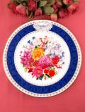 <RHS:英国王立園芸協会>1993年「Chelsea Flower Show Plate」♪華やかなお花たちの大きな絵皿「プレートスタンド付」