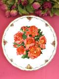 <ロイヤル・アルバート限定品>貴重なクィーンマザーのお花たち「Elizabeth of Glamis」 華やかなオレンジのバラ「スタンド付」