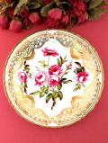 <COAL PORT:限定品>「Rose Trellis」♪ピンク色のバラとトレリスと素晴らしく豪華な金彩の絵皿「プレートハンガー付」