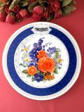 <RHS:英国王立園芸協会>1988年「Chelsea Flower Show Plate」♪華やかなバラのブーケの絵皿「プレートハンガー付」