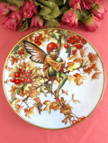 <フラワーフェアリー:限定品>「The Hawthorn Fairy」♪可愛いサンザシの赤い実の妖精の飾り皿