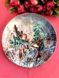 <COALPORT:限定品>「Wrens」英国の愛らしい野鳥さんがきれいな絵画のような絵皿