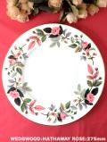<廃盤レア♪ウェッジウッド>1959年:「HATHAWAY ROSE(ハザウェイローズ)」のピンクのバラのとても大きなディナープレート