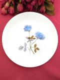 <廃盤レア♪ウェッジウッド>「ICE ROSE(アイス・ローズ)」の貴重な水色のバラの大きなお皿「スタンド付」