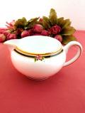 ★★<WEDGWOOD:廃盤レア>レア♪豪華な金彩とお花たち♪「CLIO」の素晴らしく美しい大きなミルクジャグ
