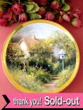 <THE FRANKLIN MINT:限定品>「Royal Doulton」の「Dove Cottage」♪たくさんのお花たちに囲まれた英国カントリーコテージの絵皿