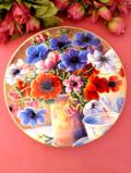 <ウェッジウッド:レア♪>「Bright Fantasia」♪華やかなポピーのお花たちの絵皿