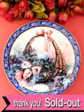 <W. S. George:限定品>「Tulips and Lilacs」♪花摘みバスケットのチューリップとライラックの絵皿
