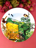 <WEDGWOOD:限定品>「The Village in the Valley」♪英国カントリーサイドの風景の野鳥さんの絵皿