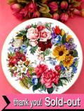 <ドイツ製:HUTSCHENREUTHER限定品>「フッチェンロイター」華やかな四季のお花たちのとても大きな絵皿