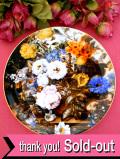 <ウェッジウッド:レア♪>「Autumn Glory」♪華やかな英国のお花たちが咲いた大きな絵皿
