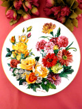 <ドイツ製:HUTSCHENREUTHER限定品>「フッチェンロイター」華やかなバラのお花たちのとても大きな絵皿