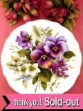 <Edwardian>華やかな英国のお花たち♪素晴らしい絵画のような特別大きな絵皿「プレートハンガー付」