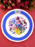 <RHS:英国王立園芸教会>1991年「Chelsea Flower Show Plate」♪華やかなお花たちの絵皿「スタンド付」