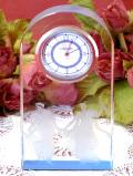 <ウェッジウッド>6人の女神様♪氷細工のような美しいクリスタルガラスのアートフルな光の置時計「お箱入り」