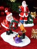<英国流クリスマス>クラシカルなサンタさん♪楽しいクリスマスのサンタさんのフィギュア