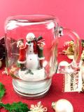 <英国流クリスマス>スノーマンと遊ぶ女の子と男の子♪とても楽しい大きな保存ジャーに入ったオーナメント