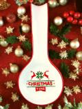 <英国流クリスマス>赤いトナカイさん♪ぽったりとした陶器の大きなクリスマスのレードル