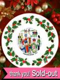 <英国流クリスマス:Royal Grafton>1987年:「TWELVE DAYS OF CHRISTMAS」♪12人の騎兵隊の楽団のクリスマスプレート