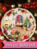 <英国流クリスマス:ROYAL ALBERT>「Christmas Magic」バラのお花のクリスマス♪22カラットゴールドと美しいバラのクリスマス・プレート