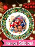 <英国流クリスマス:ROYAL ALBERT>「SANTA'S LITTLE LIST」♪たくさんのプレゼントリストを考えるサンタさんと子供たちのクリスマス・プレート