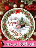 <英国流クリスマス:ROYAL ALBERT>「CHRISTMAS SLEIGHRRIDE」英国カントリーサイドでそりすべりを楽しむクリスマス・プレート