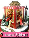 <英国流クリスマス:新品未使用品>クリスマスの街角♪クリスマスの音楽と灯りが素敵な楽しいサンタクロースの大きなTOY SHOP「お箱入り」