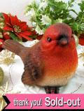 <英国流クリスマス:新品未使用品>愛らしい赤いクリスマス・ロビンのオーナメント