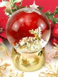 <英国流クリスマス:新品未使用品>金色の子鹿のバンビ♪ロマンティックなクリスマスのスノーボール「お箱入り」