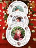 <英国流クリスマス:Royal Doulton>美しい雪原の森で賛美歌を歌う子供たちのクリスマス・プレート