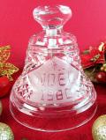 <英国流クリスマス>「NOEL1980」♪キラキラ輝くガラス細工がきれいなクリスタルガラスの大きなベル