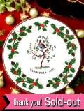 <Royal Grafton>「TWELVE DAYS OF CHRISTMAS:A Partridge in a Pear Tree」1976年:梨の木の上のウズラさんのクリスマス・プレート