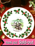 <Royal Grafton>「TWELVE DAYS OF CHRISTMAS:Six Geese A laying」1981年:玉子を抱えている6羽のガチョウさんのクリスマス・プレート