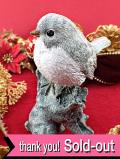 <英国流クリスマス>クリスマスと新年を祝う幸せの小鳥♪愛らしいキラキラ光るクリスマスロビンさんの大きなフィギュアの置物