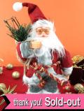 <英国流クリスマス:新品未使用品>とても楽しいメガネをかけた赤いサンタクロースのお人形